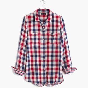 Madewell Ex-Boyfriend - Emmett Plaid' Shirt